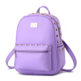 Cheapest Student Fashion Backpack Pu Leather Shoulder Bag Casual Backpack For Women Purple Intl