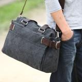 Price Comparisons For Men S Korean Style Leisure Shoulder Bag Carbon Black Color Carbon Black Color