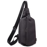 Sale Stylish Chest Pack Men S Shoulder Messenger Bag Sports Female Pockets New Style Korean Style Casual Man Bag Small Bag Male Backpack Ink Black Wolf Horse Original
