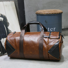 Compare Price Men S Korean Style Large Space Leather Handbag Oem On China