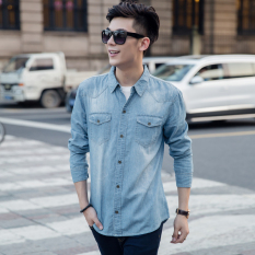 Where To Shop For Korean Style Cowboy Long Light Jacket Shirt