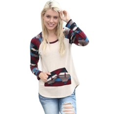 Where Can I Buy Stylish Ladies Women Casual All Match O Neck Long Sleeve Print T Shirt Intl