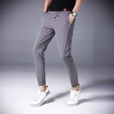 Where Can You Buy Stylish Summer Slim Fit Ankle Length Harem Pants Men Pants Gray