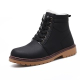 Cheapest Suede Leather Men Boots Spring Autumn And Winter Man Shoes Ankle Boot Men S Snow Shoe Black Intl