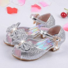 Summer 2017 Children Princess Sandals Kids Girls Wedding Shoes High Heels Dress Shoes Party Shoes For Girls Leather Bowtie Intl Compare Prices