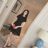 Sale Korean Style Summer New Style Slim Fit High Waisted Dress Black Oem