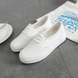 Sales Price Female Thick Bottomed Foot Covering A Loafers Sneakers White