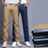 Price Summer Autumn Cotton Multicolor Men Pants Business Or Casual Style Slim Fit Trousers Straight Long Pants Oem Online