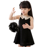 Where To Shop For Summer Baby Kids Children S Girls Sleeveless Sequins Collar Lace Vest Skirt Princess Dress Sundress Intl