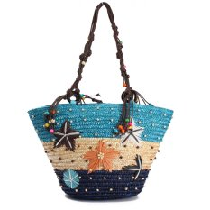 Summer Beach Coral Cane Straw Handmade Knitted Cute Shoulder Bag Handbag Tote Blue Intl Lower Price