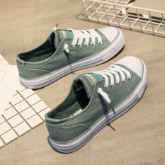 Compare Research On Ins Versatile Female New Sneaker Sneakers Green Green
