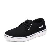 Latest Summer Breathable Men Canvas Shoes Black U737 Black U737