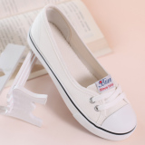 Price Summer Breathable Women S Shoes Shallow Mouth Canvas Shoes White Other Original