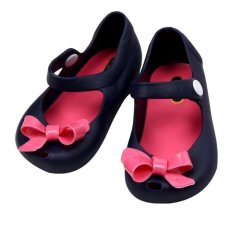 Best Reviews Of Summer Children Bow Tie Girls Jelly Sandals Kids Slipper Shoe Navy Blue Sd001 Intl