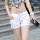 Summer Denim Shorts Female Korean Slim Ladies White Lipped Denim Shorts White Price