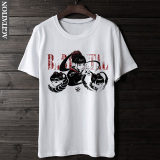Coupon Fashion Summer New Round Neck Short Sleeve Loose Fit Top White White