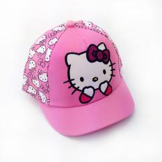 e411ed398 Summer Korean Style Hello Kitty Cat Children Brim Hat Girls Baby Short Brim  Beret Cute Baseball
