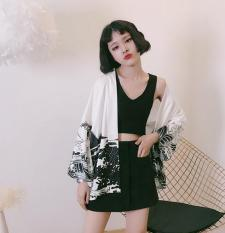 Women S Korean Style Vintage Loose Sun Protective Coat And White Dragon And White Dragon Best Buy