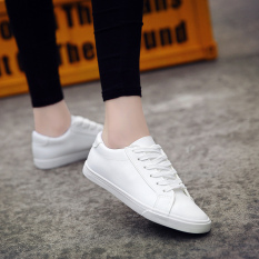 Womens Korean-Style Flat Canvas Shoes In White (white) By Taobao Collection.
