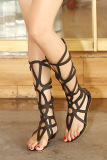 Compare Women S Roman Gladiator High Heel Sandals Black Black