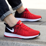 Men S Casual Sports Shoes Black And Red Black And Red Compare Prices