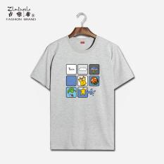 Review Japanese Cotton Barometer Round Neck Short Sleeve T Shirt Gray 228 Gray 228 China