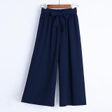 Purchase Summer New Korean Chiffon Wide Leg Pants Female Clear And Thin Straight Thin Section Khaki Intl