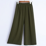 Get The Best Price For Summer New Korean Chiffon Wide Leg Pants Female Clear And Thin Straight Thin Section Khaki Intl