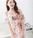 Sale Summer New Korean Large Size Women Loose Bat Sleeve Butterfly Chiffon Shirt Short Sleeved Blouses Oem Online