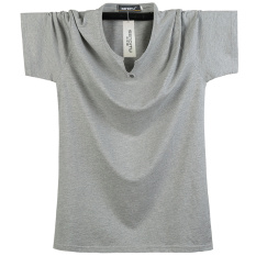 Price Loose Fit Cotton Solid Color Increase Short Sleeve T Shirt Pure Gray Pure Gray Oem New