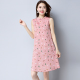 Who Sells Loose Vintage Cotton And Linen Stand Collar Dress