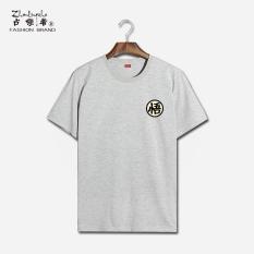 Sale Loose Fit Cartoon Summer Anime T Shirt Gray 019 Wu Gray 019 Wu On China