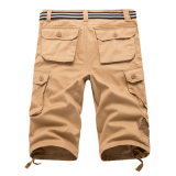 Best Rated Men S Plus Size Cotton Multi Pocket Cargo Shorts Khaki 7 Points Khaki 7 Points