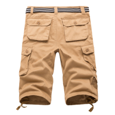 Discount Men S Plus Size Cotton Multi Pocket Cargo Shorts Khaki 7 Points Khaki 7 Points Oem