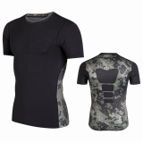 Sale Summer Quick Drying Breathable Fitness Room Sports Slim Fit Vest Pro Armor Pattern Basketball Training Fitness Sleeveless Men Camouflage Black Short Sleeved Oem Cheap