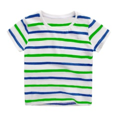 For Sale Summer Short Sleeve Stripe Kid Boy T Shirt Top Intl