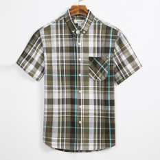 Best Buy Loose Casual Cotton Men Light Queen Shirt Big Plaid Shirts T89 T89