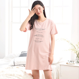 Purchase Loose Korean Style Cotton Female Summer Pajamas Tracksuit Lingerie 001 Pink Feather Lingerie