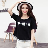 Discounted Korean Style Cotton Loose Slimming Top T Shirt