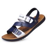 Price Comparisons For Fashion Summer Color Panel Breathable Shoes Blue Blue
