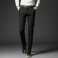 Korean Style Slim Fit Skinny Pants Men S Casual Pants Black 8206 Paragraph Coupon