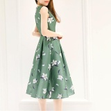 Promo Summer Women Korean Version Of The Long Paragraph Sleeveless Dress Received Waist Was Thin A Word Skirt Intl