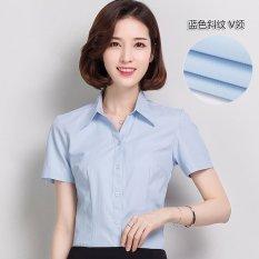 Sale Summer Women Ol Short Sleeve Shirts Office Ladies Business V Neck Shirt Intl China Cheap