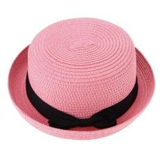 0f2d5f74 Summer Women Straw Knitting Sun Hat Travel Outdoor Fold Beach Hat(Pink) -  intl
