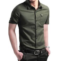 06d743d10de Summer Youth Men s Short-sleeved Shirt Korean Style Slim Fit Pure Cotton  Shirt Non-