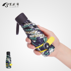 Cheapest Sunscreen Uv Female Lightweight Small Folding Umbrella Parasol Elegant Lily With Pockets Umbrella
