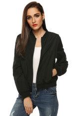 Sunweb Zeagoo Women Autumn Casual O Neck Long Sleeve Slim Zip Up Jacket Coat Black Intl Coupon Code