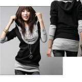 Purchase Sunwonder Hot Korea Women Lady Long Sleeve Cotton Tops Dress Hoodie Coat Fashion Intl Online