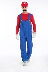Top 10 Super Mario Bros Luigi Mario *d*lt Cosplay Costume Red Intl
