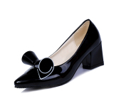 Low Price Super Soft Flexible Pumps Shoes Women Clasiscal Ol Pumps Spring Mid Heels Offical Comfortable Shoes Size 34 40 Intl